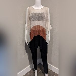 CURIO New York knit mesh tunic FIRM